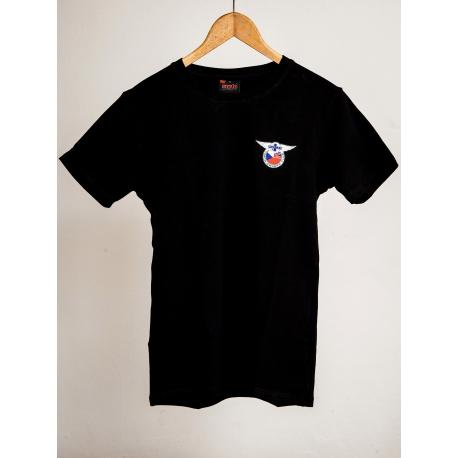 Černé triko s klubovým logem Morgan