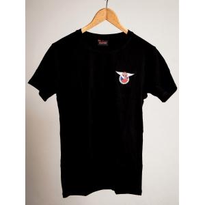 Černé triko s klubovým logem Morgan 3 Wheeler