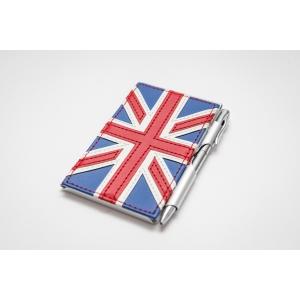Zápisník ve stylu Union Jack s tužkou