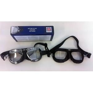 Motoristické brýle Halcyon - chromové